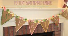 Pottery Barn Banner Tutorial