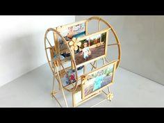 Useful Diy Ideas - Make a windmill photo frame with an ice cream stick Diy Crafts Hacks, Diy Crafts For Gifts, Diy Arts And Crafts, Photo Frame Crafts, Photo Craft, Photo Frame Ideas, Photo Frame Decoration, Diy Photo, Popsicle Stick Crafts