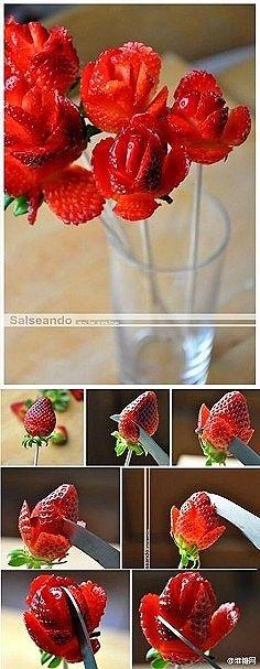 DIY handmade food flower.