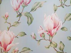 322354 blauw roze groen bloemen behang