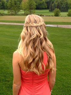 prom hair #waterfall #braid #hair #curl