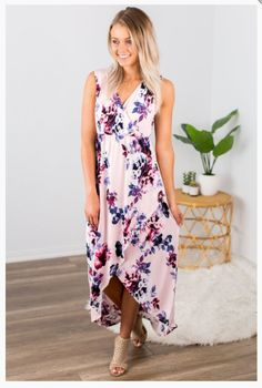 """Shop new arrivals at Beautique! Us the code """"aubree10"""" at checkout to get 10% off your order every time you purchase!   #summer #summerfashion #womensfashion #dress #summerdress #hilow #clothes Hi Low Maxi, Trendy Fashion, Elastic Waist, Slip On, Summer Dresses, Denim, Summer Sundresses, Trending Fashion, Summer Outfit"""