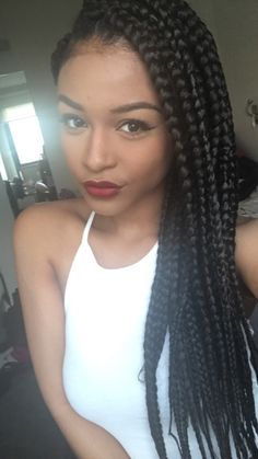 Black girls hairstyles - 16 Jumbo braids - Page 5 of 8 - Inspired Beauty Black Girl Braids, Girls Braids, Big Braids, Box Braids Hairstyles, Girl Hairstyles, Dreads, Curly Hair Styles, Natural Hair Styles, Twist Braids