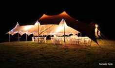 Nomadic Tent under lights !