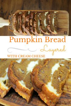 Fall baking is pumpkin bread time. Not just any pumpkin bread. But pumpkin bread layered with cream cheese filling, bursting with decadent spices and nuts.
