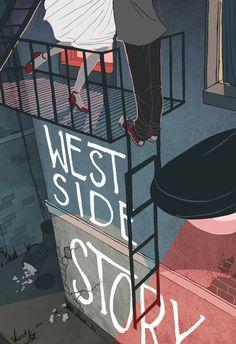 bonnynotion:    Poster design for West Side Story