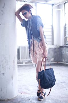 I love this bag! no. 314 Crystal tote bag - waxed cotton by genevieve savard. Price: $360.00