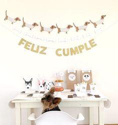 Puppy Party, Puppies, Instagram, Birthday, Happy, Kids Part, Flower, Home, Dachshund Cake