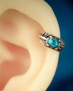 cartilage earring cartilage piercing helix earring by JennyAndWind - so cute, definitely will get when I get paid :D Helix Jewelry, Helix Earrings, Cartilage Earrings, Body Jewelry, Jewelry Gifts, Jewelery, Jewelry Accessories, Fine Jewelry, Piercing Cartilage
