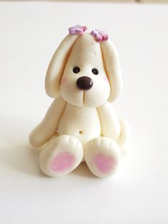 Polymer+Clay+Figures | Polymer clay doggy by natbears on Etsy