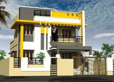 Ghjgdjj Ok Gjcd so h Two Story House Design, Village House Design, Kerala House Design, House Front Design, Modern House Design, Luxury House Plans, Modern House Plans, North Facing House, House Elevation