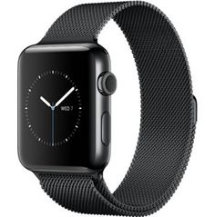 Space Black Stainless Steel Case with Space Black Milanese Loop  http://store.apple.com/xc/product/W16_SS_SB_ML_SB
