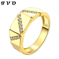 2015 Best Gift Gold color Men Jewelry Rings Free shipping Party Jewelry Cubic Zirconia man Rings