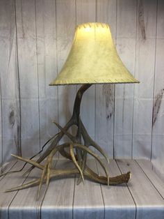 Antler Lamp Made from Real Antlers