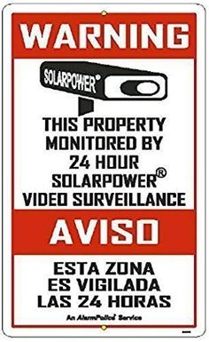 ALARM SIGNS  3 Pack 3 x 5 Commercial  Home Security Signs Surveillance Video CCTV Warning Deterrence Decals *** Read more reviews of the product by visiting the link on the image.(It is Amazon affiliate link) #instagood