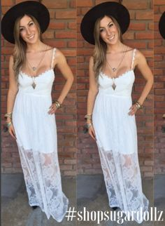 ✨Obsessed with this white lace and crochet detailed dress $24.99✨ It's a must-have perfect for bridal or bachelorette partiesMatch it with any color floppy hat $14 .99✨New inventory dollz #sugardollz #shopsugardollz #fashion #style #igfashion #canyonlake #canyonhills #lakeelsinore #wildomar #temecula #bridal #bridaldress #bachelorette #bachorletteparty