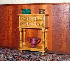 Spice Cabinet Tudor Dollhouse Miniature 1/12 Scale by CalicoJewels, $62.00