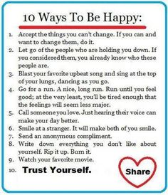 life inspiration quotes: Ways to be happy inspirational quote