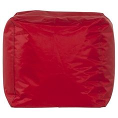 Kendall Beanbag Red in Polyester with PVC Coating Pouf Design, Kokoon Design, Pvc Coat, Textiles, Bean Bag, How To Wear, Mesh, Polyester, Shape