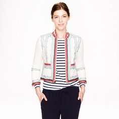 J.Crew - Collection embroidered linen jacket