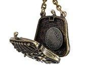 Steampunk Necklace Vintage Brass Change Purse ANTIQUE COIN Watch Parts Statement Necklace Locket BEAUTY - Steampunk Jewelry by edmdesigns