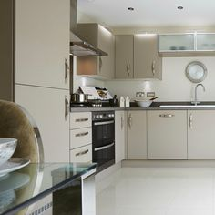 You can find this beautiful, modern kitchen in the 'Downham' at Winnington Village in Cheshire.