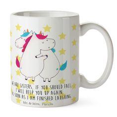 Tasse Unicorn Umarmen aus Keramik  Weiß - Das Original von Mr. & Mrs. Panda.  Eine wunderschöne spülmaschinenfeste Keramiktasse (bis zu 2000 Waschgänge!!!) aus dem Hause Mr. & Mrs. Panda, liebevoll verziert mit handentworfenen Sprüchen, Motiven und Zeichnungen. Unsere Tassen sind immer ein besonders liebevolles und einzigartiges Geschenk. Jede Tasse wird von Mrs. Panda entworfen und in liebevoller Arbeit in unserer Manufaktur in Norddeutschland gefertigt.     Über unser Motiv Unicorn Umarmen…