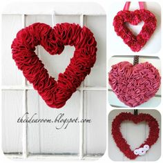 Ruffled Heart Wreath Tutorials