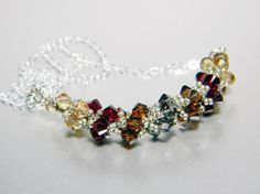 The Avengers Thor Inspired Crystal Necklace by WhimsyBeading, $35.00