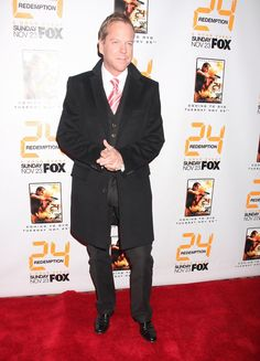 "Kiefer Sutherland Photos Photos - Kiefer Sutherland at Fox's ""24: Redemption"" world premiere in New York City. - Fox's '24: Redemption' World Premiere"