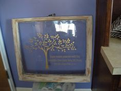 old window crafts | Mustard Seed Dream: From Junk to... ART!! Old Wood Window: Vinyl ...