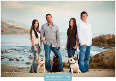 Cool family portrait at Leo Carrillo Beach in Malibu