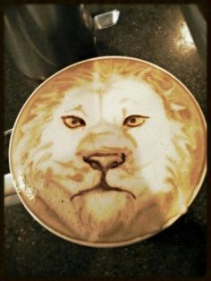 Lion Latte Art