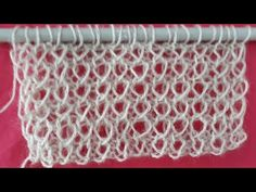Crochet Stitches Patterns, Knitting Stitches, Stitch Patterns, Knitting Patterns, Crochet Round, Knit Crochet, Creative Knitting, Knitting Videos, Crochet For Beginners