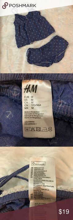 H&M 100% Cotton Nautical PJ Set H&M 100% Cotton Nautical PJ Set. Includes shorts and top. Comfy and airy. H&M Intimates & Sleepwear Pajamas