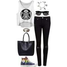 Untitled #2926 by meandelstyle on Polyvore featuring Ted Baker, Converse, TOMS and H&M