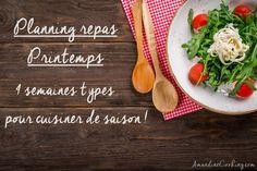 Planning repas pour la saison Printemps (4 semaines types) - Amandine Cooking