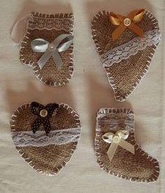 decorazioni shabby chic addobbi fai da te : Danish heart baskets-- can be filled with candy or whatnot. An easy ...