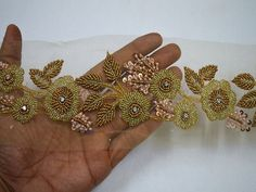 Lace costume - Decorative Gold Beaded Trim by the Yard Wedding Dress ribbon Bridal Belt Sashes Indian Laces Costume Crafting Sewing Sari Border Beaded Trim, Beaded Lace, Beaded Embroidery, Embroidery Designs, Lace Trim, Disney Wedding Dresses, Disney Dresses, Bridal Dresses, Wedding Gowns
