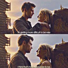 Allegiant quote and feels! Divergent Memes, Divergent Hunger Games, Divergent Fandom, Divergent Trilogy, Divergent Insurgent Allegiant, Insurgent Quotes, Tfios, Tris And Tobias, Tris And Four