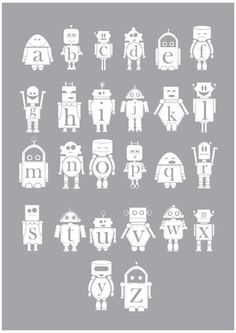 the robot alphabet.