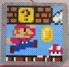 Mario scene perler beads