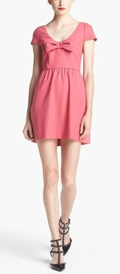 Adorable, RED Valentino Bow Crepe Dress.