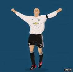 Sports Drawings, Charming Man, English Premier League, David Beckham, Football Players, Manchester United, Bart Simpson, Soccer, The Unit