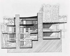 paul rudolph drawings + section - Google Search