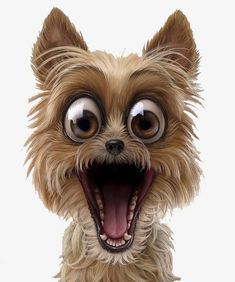 Funny pins, dog expressions, animals and pets, cute animals, dog illustrati Cute Baby Animals, Funny Animals, Animals Dog, Puppy Clipart, Dog Expressions, Funny Caricatures, Tier Fotos, Pet Puppy, Puppy Face