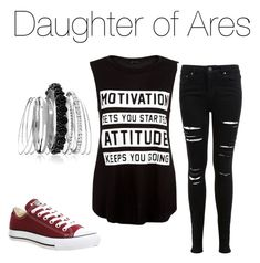 """""""DAUGHTER OF ARES"""" by weasleysrule on Polyvore featuring Miss Selfridge, Converse and Avenue"""