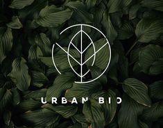 Urban Bio - Logo design on Behance Logo Minimalista, Cosmetic Logo, Agriculture Logo, Minimal Logo Design, Leaf Logo, Freelance Graphic Design, Graphic Design Inspiration, Design Ideas, Branding Design