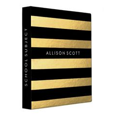 This super cute black and gold binder would be perfect for anything! Whether you want to keep your school subjects organized or recipes, they'll look amazing in this binder! Personalize this binder just for you by adding whatever text you'd like on to the spine of the binder, and on the front of the binder.