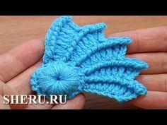Crochet 3D Wing Tutorial 10 часть 2 из 2 Вязание крылышка - YouTube